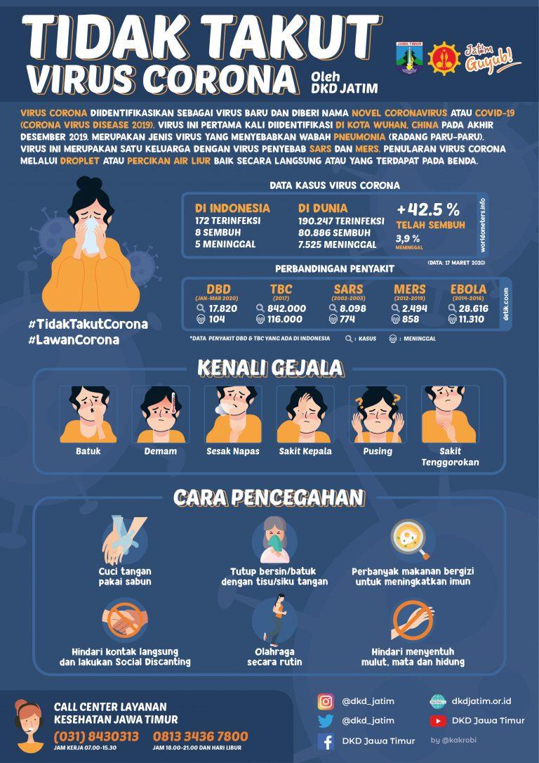 Infografis Virus Corona 2020